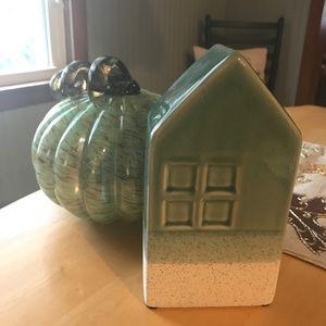 Ceramic House in Calming Seashore Tones Vase/Decor